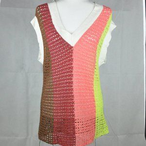 UO striped tunic sweater vest